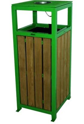 Ayaz 2115 35 Lt Kare Ahşaplı Çöp Kovası 90 Cm