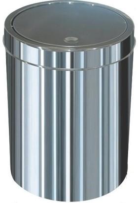 Ayaz 1319 Dokunmatik Çöp Kovası Paslanmaz 3 Litre İtme Kapak 18*20 Cm