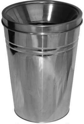Arı Metal 1298 Paslanmaz Konik Çöp Kovası 20 Litre