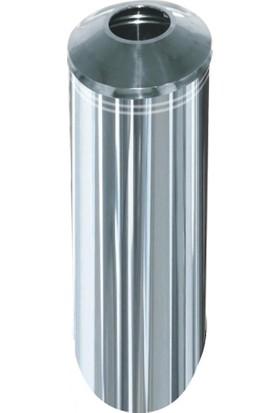 Arı Metal 1285 Ulra Çöp Kovası Paslanmaz 34 Litre 27X60 Cm