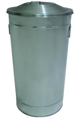 Ayaz 1093 60 Lt Galvaniz Çöp Kovası Manuel Kapaklı Endüstriyel