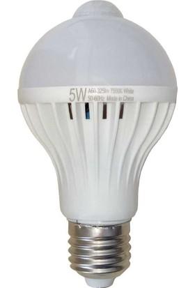 Hareket Sensörlü Led Ampul 5 W Beyaz E27