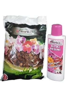 Yalova Fidan Market İthal Orkide Toprağı 2,5Kg + Orkide Sıvı Besini 225Ml