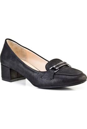 Cabani Topuklu Günlük Kadın Ayakkabı Antrasit Deri