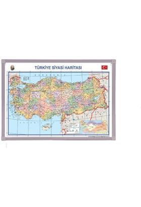 Aymi 70X100 Alüminyum Çerçeve Türkiya Siyasi Harita