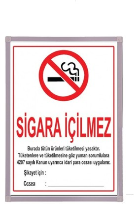 Aymi 50X70 Alüminyum Çerçeve Sigara İçilmez