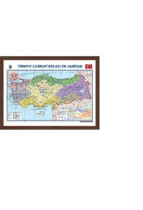 Aymi 70X100 Mdf Çerçeve Türkiye Bölgeler Haritası