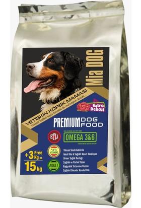 Mia Dog Etli Yetişkin Köpek Maması 12+3KG BONUS PAKET