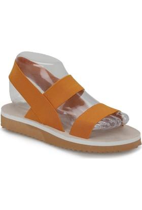 Butigo Prag*47Z Turuncu Kadın Sandalet
