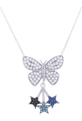 Nagiss 925 Ayar Gümüş Yıldızlı Kelebek Kolye