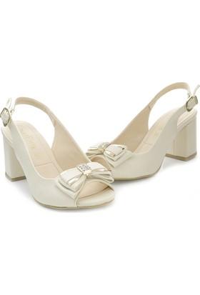 Artemis 300Hs Burnu Açık Kare Topuk Kadın Ayakkabı