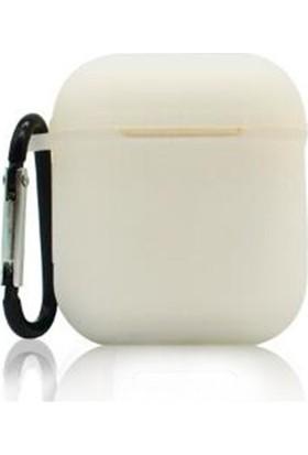 Case 4U Apple AirPods Bluetooth Kulaklık Askılı Silikon Kılıf - Şeffaf