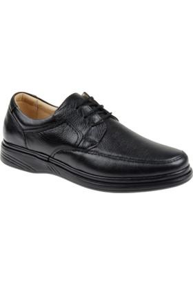 Shalin Büyük Numara Hakiki Deri Erkek Ayakkabı Dtc 1112B Siyah