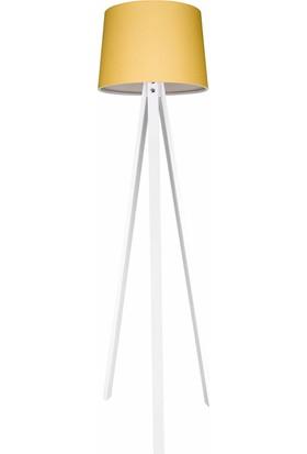 Modelight Deko Lambader Beyaz Ayak/Sarı Şapka