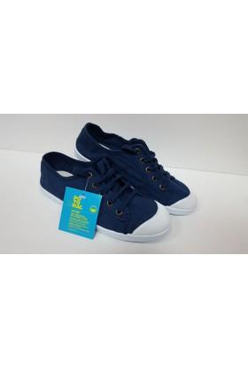 Potomaç Kadın Lacivert Organik Keten Ayakkabı P08299 MARINO BASKET CORDONES (PT)