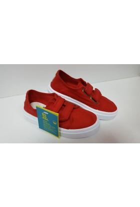 Potomaç Kız Çocuk Kırmızı Organik Keten Ayakkabı P00311 ROJO BLUCHER (PT)