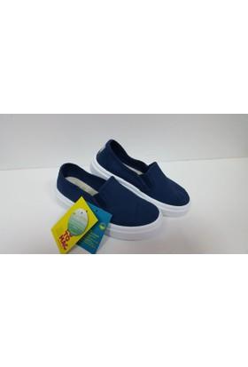 Potomaç Erkek Çocuk Lacivert Organik Keten Ayakkabı P00331 MARINO SLİP ON (PT)