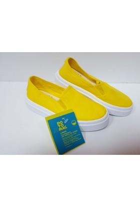 Potomaç Kız Çocuk Sarı Organik Keten Ayakkabı P00331 AMARİLLO SLİP ON (PT)