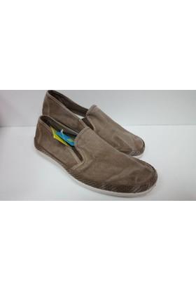 Potomaç Erkek Kahverengi Organik Keten Ayakkabı P00558 TAUPE108 SLİP ON (PT ENZ)