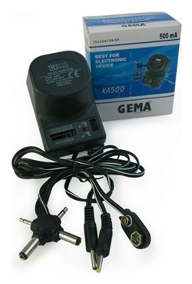 Gema Adaptör 12V 500MA Kademeli