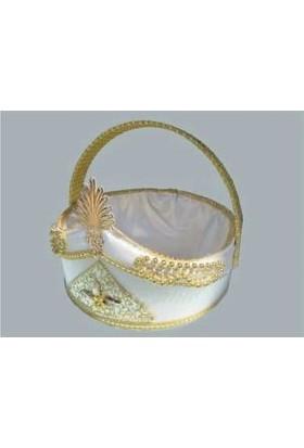 Yavuz Sünnet Sepeti Sünnet Şapkası Süslenmiş Altın 27cm*29cm