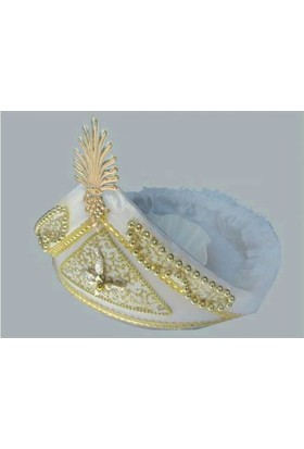 Yavuz Sünnet Tepsisi Sünnet Şapkası Şeklinde Süslenmiş Altın 30 cm* 40 cm