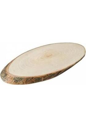 Elite Dişbudak Ağacı Sade Ağaç Kütük Tepsi Malzemesi 12cm * 25 cm