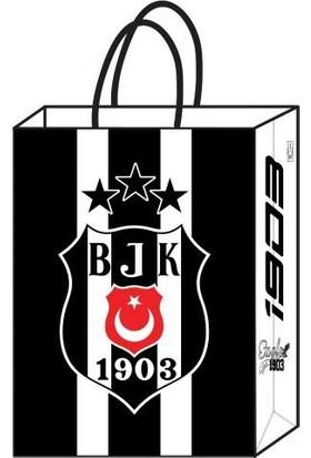 Kikajoy Büküm Saplı 12 Adet Beşiktaş Büküm Saplı Karton Çanta 18 cm * 24 cm
