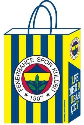 Kikajoy Büküm Saplı 12 Adet Fenerbahçe Büküm Saplı Karton Çanta 18 cm * 24 cm