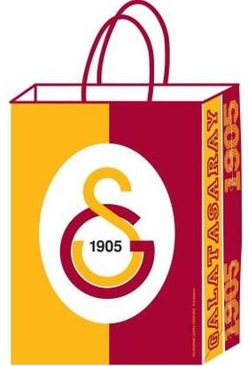 Kikajoy Büküm Saplı 12 Adet Galatasaray Büküm Saplı Karton Çanta 18 cm * 24 cm
