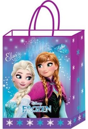 Kikajoy Büküm Saplı 12 Adet Frozen Büküm Saplı Karton Çanta 18 cm * 24 cm
