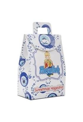 Cansüs Karton Çanta 25 Adet Sünnetimize Hoş Geldiniz Mini Tutmalı Karton Kutu Çanta Sünnet 7 cm * 11 cm