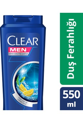 Clear Şampuan Duş Ferahlığı 550 ml
