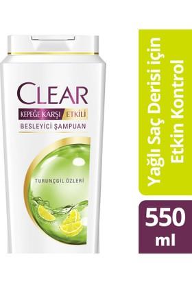 Clear Şampuan Yağlı Saç Derisi İçin Etkin Koruma 550 ml