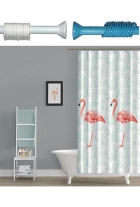 Prado Flamingo Banyo Perdesi + Askı 180x200