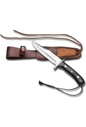 Joker Knives Cf96-3 Bowie Büyük Boy Bufalo Boynuz Saplı Geyik Deri Kılıf