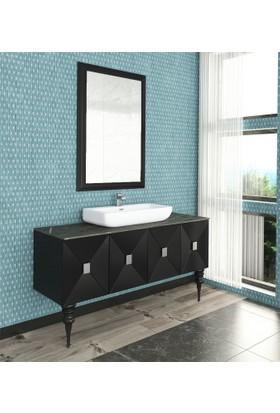 Renitsa Geeo Banyo Dolabı Takımı +Ayna + Seramik Lavabo