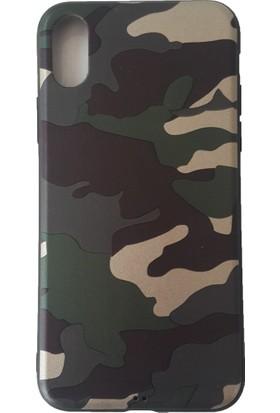 Sunix Apple iPhone X Kamuflaj Desenli Premium Slim Fit Silikon Kılıf