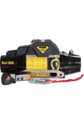 Power Winch 13000 lb Sentetik Halatlı Off-Road 4x4 Elektrikli Vinç (S Serisi)