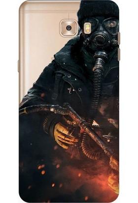 Tomkas Samsung Galaxy C9 Pro 0.2 mm Desenli Arka Kapak hopi14327