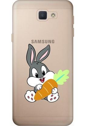 Tomkas Samsung Galaxy J7 Prime 0.2 mm Desenli Arka Kapak hopi15106