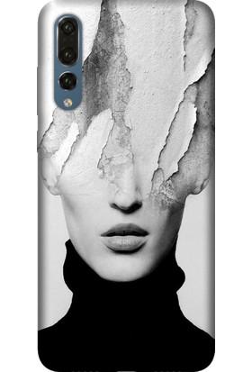 Tomkas Huawei P20 Lite Kılıf Desenli İnce Silikon Kapak - Art Girl