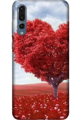 Tomkas Samsung Galaxy S9 Plus Kılıf Desenli İnce Silikon Kapak - Kalp Gölgesi