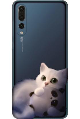 Tomkas Samsung Galaxy S9 Plus Kılıf Desenli İnce Silikon Kapak - Şeker Kedi