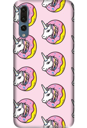 Tomkas Huawei P20 Pro Kılıf Desenli İnce Silikon Kapak - Unicorn Donut