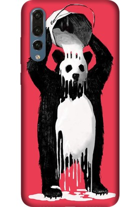 Tomkas Huawei P20 Pro Kılıf Desenli İnce Silikon Kapak - Panda Kingo
