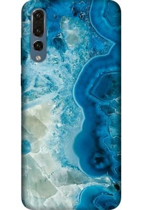 Tomkas Huawei P20 Pro Kılıf Desenli İnce Silikon Kapak - Modern Ametist