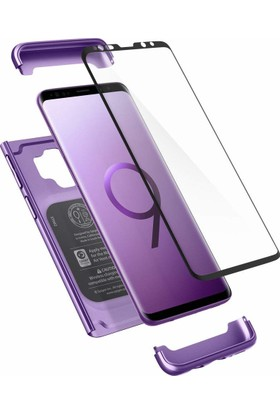 Spigen Samsung Galaxy S9 Kılıf Thin Fit 360 Lilac Purple (Cam Ekran Koruyuculu) - 592CS23966