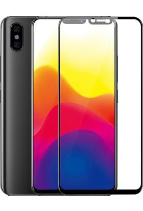 KNY Xiaomi Mi 8 Full Yapışan Renkli Cam Ekran Koruyucu Siyah
