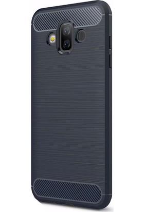 KNY Samsung Galaxy J7 Duo Kılıf Ultra Korumalı Room Silikon + Cam Ekran Koruyucu